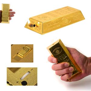 Briquet lingot d'or de table